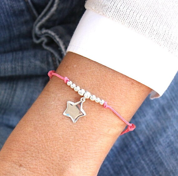 choice of string bracelet and a star and 925 sterling silver beads