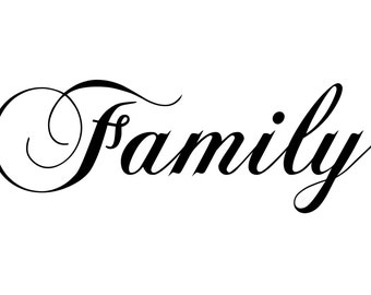 Family Wall Decal... Removable Wall Art Vinyl Decal sticker
