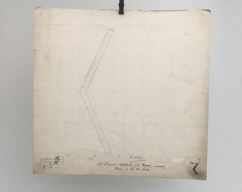 Arrow Mark, 1931 original font typographic drawing, a piece of British Industrial history. Gift for a graphic designer or typographer.