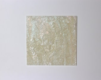 3mm W504 Beige and white marble acrylic perspex with glitter 120x120mm