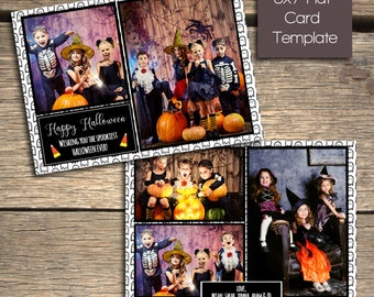 Happy Halloween - 7x5 Photoshop Card Template - INSTANT DOWNLOAD
