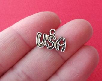 15 USA Charms 6x11x1.5mm