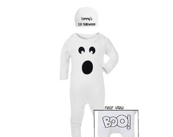 Super Cute 'My 1st Halloween' Ghost Costume with hat