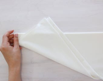 Warm White Bamboo Knit Fabric, beautiful soft & stretch for panties,  by the 1/2 meter