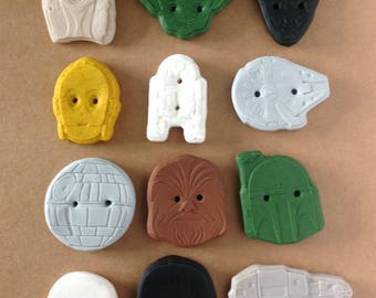 handmade Star Wars inspired buttons