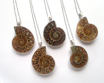 Ammonite necklace etsy ammonite necklace fossil necklace silver ammonite swirl necklace snail necklace amonite jewelry fossil jewelry bohemian necklace aloadofball Image collections