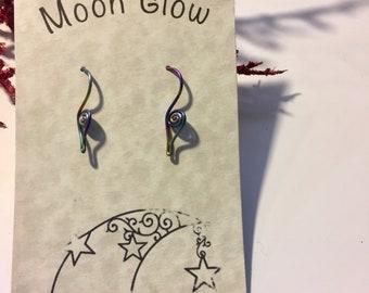 Rainbow Niobium Earrings