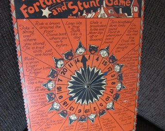 Vintage Beistle Zingo Halloween Fortune and Stunt Game 1938 Free Shipping