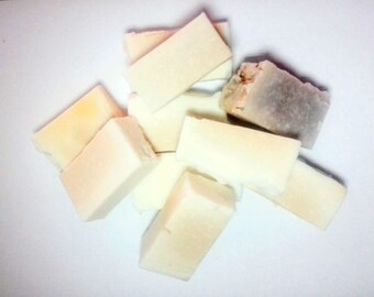 Soap clearance stock - Mixed soap pieces - whole and offcuts - 450g bag.