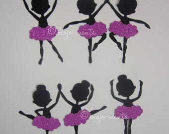Ballerina Girls Die Cuts - Pack of 6 - Assembled and Ready To add Straight On To Your Projects