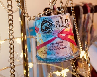 up cycled k-cups into artisan Christmas tree ornament by sonia lee garber