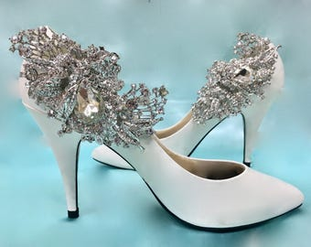 Bridal Rhinestone Shoes, Wedding Rhinestone Shoes, Bridal Crystal Shoes,  Wedding Crystal Shoes, Black Tie Shoes, Bridal Wedding Shoes
