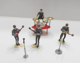 The Beatles!! Vintage Wilton Cake Toppers--George, John, Paul, & Ringo!!! Complete Set!!