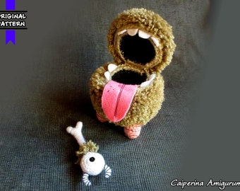 Chester - Don't Starve - amigurumi - Big size, straight fur with eye bone