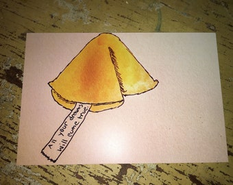 Postcard Fortune Cookie