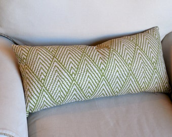 PILLOW COVER decorative throw green ikat 13x26