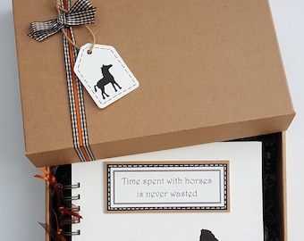 "Horse lover gift - horse scrapbook - pony lover gift - horse themed gift - horse mini album - pony themed gift - 8""x 6"" Memory Book"