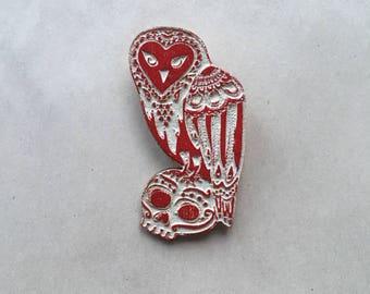 Owl brooch