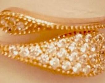18K Rose Gold Plated over 925K Silver Snake Ring