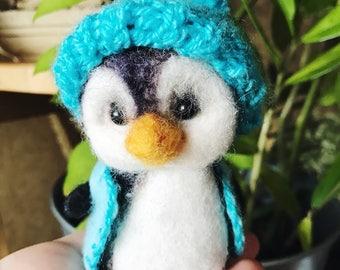 Felted Penguin. Needle Felted Penguin. Felted Toy.