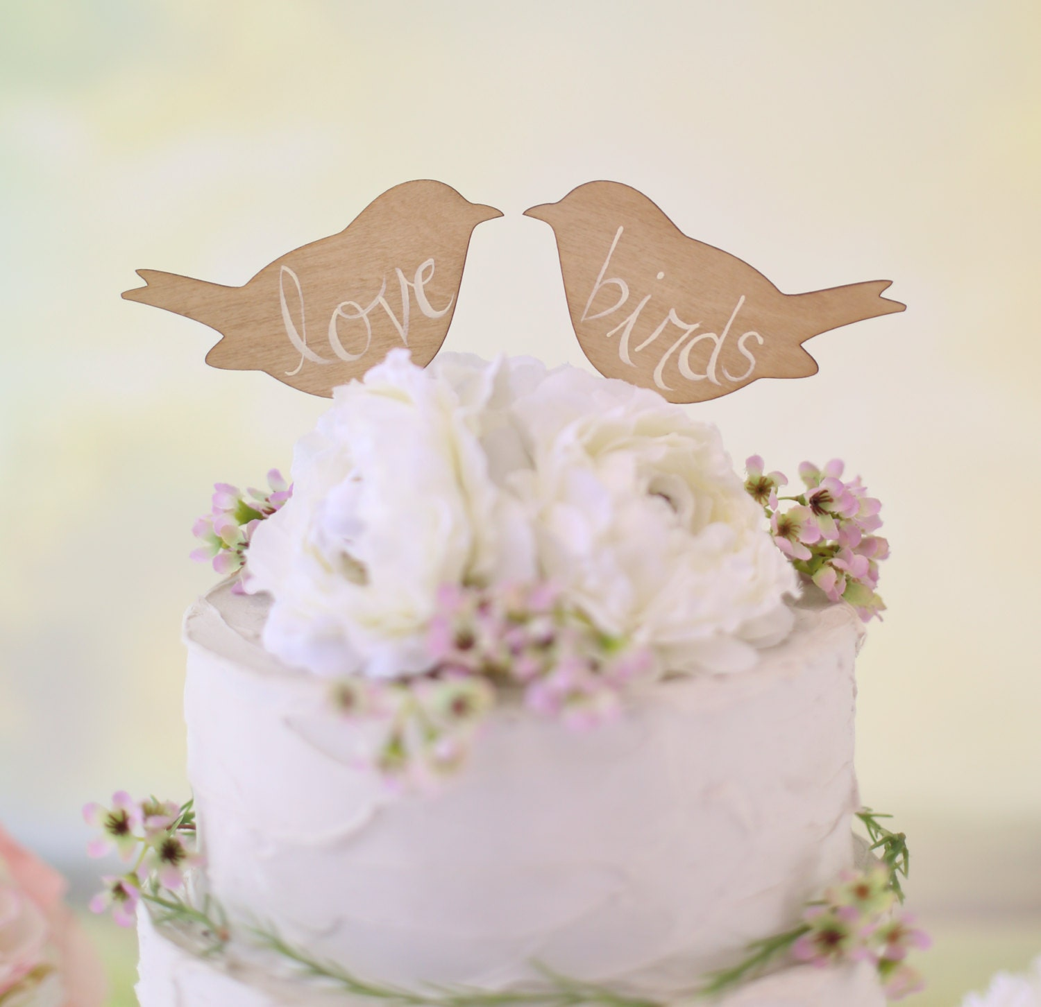 wedding cake with birds rustic wedding cake topper birds we do vintage chic decor 26824