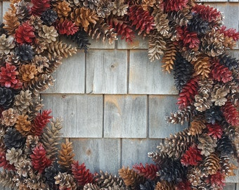 Extra Large Rustic Pinecone Wreath