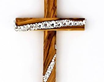 Handmade Ornaments - Olive Wood OOAK - Ornament - Freestyle Cross