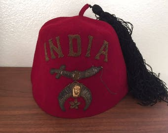 Vintage Wool Beanie from India