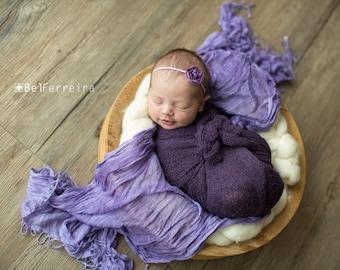 Knit Baby Wrap, Purple Knit Wrap Set, Purple Knit Wrap, Baby Knit Wrap, Newborn Prop, Newborn Knit Wrap, Newborn Wrap Set, Photography Prop