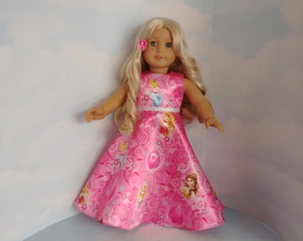 Pink Princess Gown 18 inch doll clothes