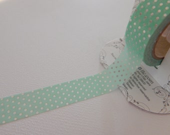 AQUA DOT - Foil Tape - 10 yards - Gift Wrap - Packaging - Paper Tape - Metallic - Silver - Baby shower - seafoam