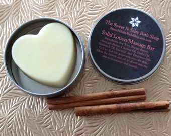 Spicy Cinnamon & Vanilla Yum Yum Massage/Lotion Bar