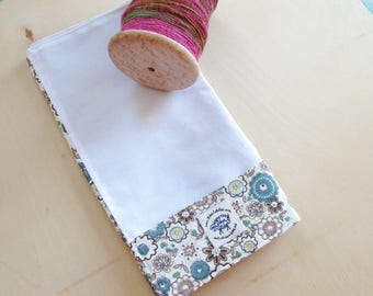 The Lap Thing - A Spinners Tool - Retro Brown and Blue Flowers