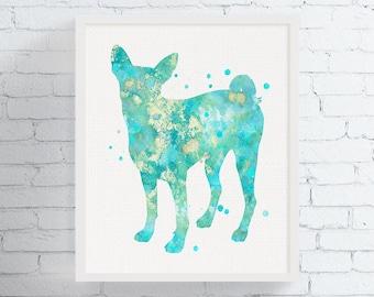 Basenji Art, Basenji Print, Basenji Watercolor, Basenji Painting, Basenji Poster, Basenji Wall Decor, Basenji Lover Gift, Dog Art, Dog Print