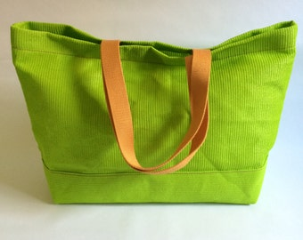 Mesh Tote  Lime Green Medium Vegan