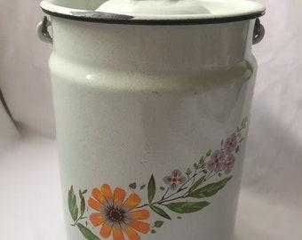 Soviet vintage enamel can