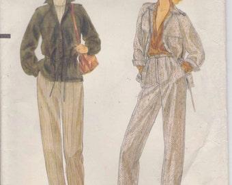 CLEARANCE Pants Pattern Jacket Pattern Misses Size 12  uncut Vogue 7193