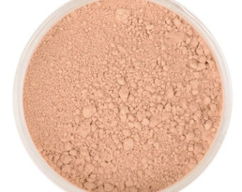 Natural Mineral Foundation - Shade: Lightly Tan - 10g sifter jar (vegan, cruelty-free makeup, powder, perfect for acne & sensitive skin)