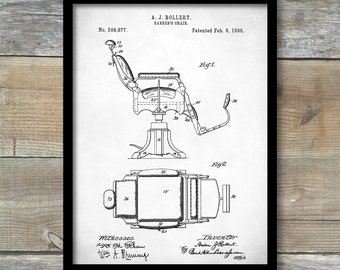 Patent Print, Barbers Chair Poster, Barbers Chair Patent, Barbers Chair Print, Barbers Chair Art, Barbers Chair Decor, P132