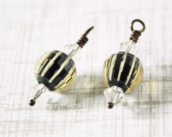 Glass Bead Charm 2pc Bead Drop Bead Dangle Bead Components Handmade Component Bead Charm Jewelry Finding Jewelry Supplies Jewelry Components