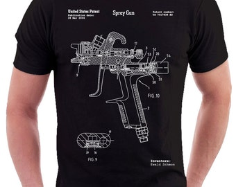 Gun blueprint etsy more colors malvernweather Choice Image