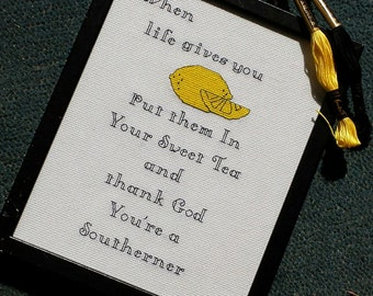 When Life Gives you Lemons- counted cross stitch chart - downloadable file