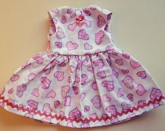 Heart Pattern Dress for 18 inch dolls like American Girls