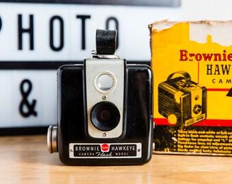 Kodak Brownie Hawkeye Camera + Box