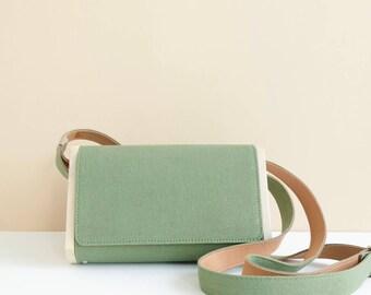 LOGGET Wooden Messenger Bag (Olive)