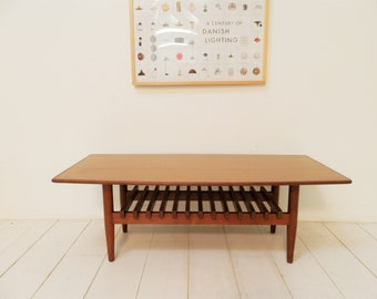 Mid Century Modern Coffee Table - 1960s Danish Retro