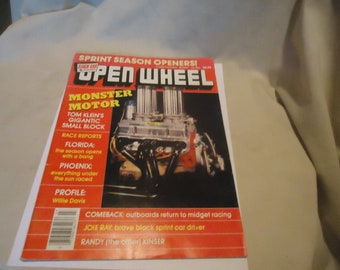 Vintage July 1984 Open Wheel Monster Motor Magazine, collectable
