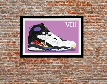 Illustration print - Jordan 8 of my Jordan sneakers series