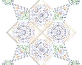 Jester - embroidery pattern