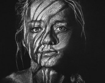 3x5 Custom Graphite Portraits